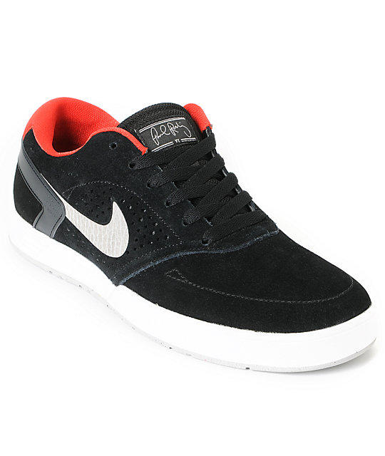 Nike SB P-Rod 6 Lunarlon Black & Grey Skate Shoes