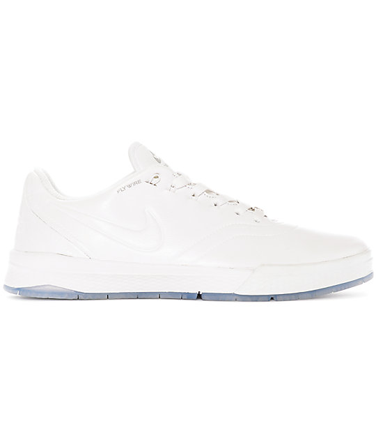 Nike SB P-Rod 9 Elite White Leather Skate Shoes