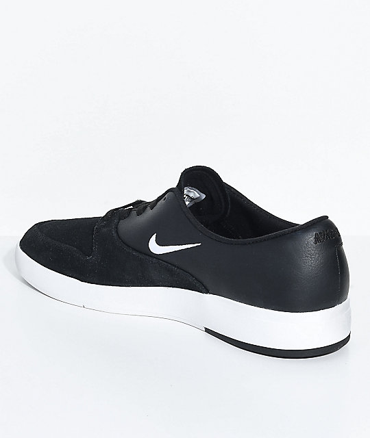... Nike SB P-Rod Ten Black & White Skate Shoes
