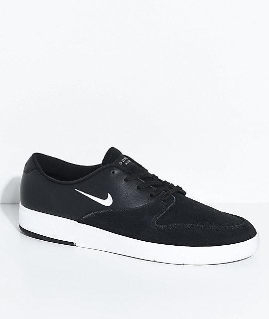 Nike SB P-Rod Ten Black & White Skate Shoes ...