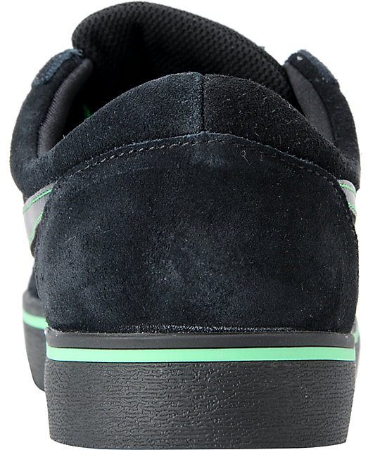 Nike SB P-Rod Vulc Rod Black & Green Suede Skate Shoes
