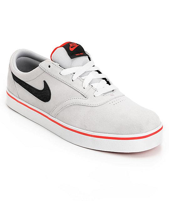 42b19f7afd14a3 Nike SB P-Rod Vulc Rod Platinum   Black Suede Skate Shoes