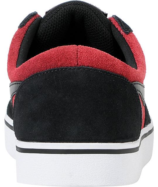 6c46bd92bae ... Nike SB P-Rod Vulc Rod Team Red   Black Skate Shoes ...