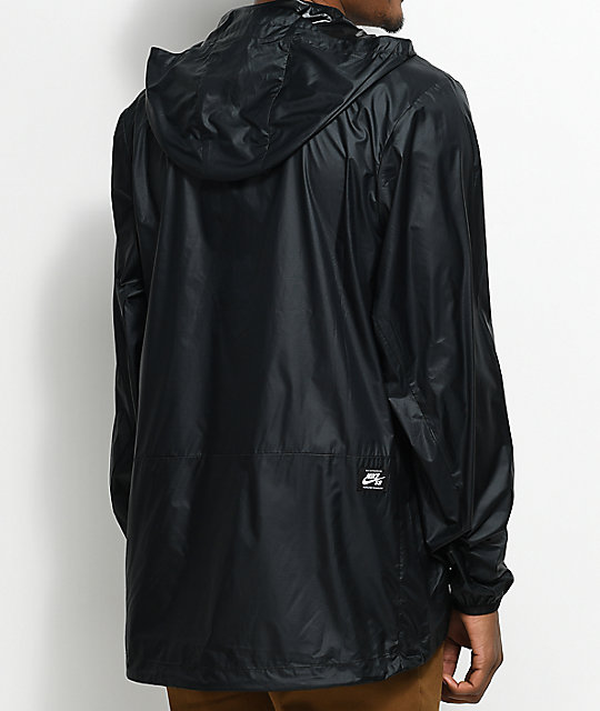 Nike SB Packable Black Anorak Jacket