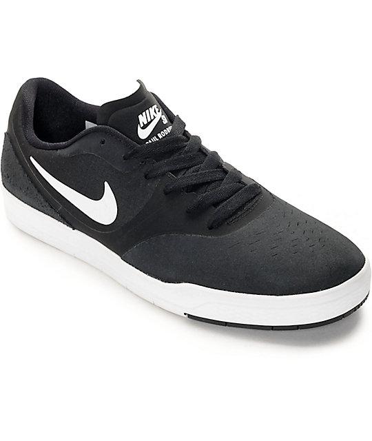 best loved f5e72 c6a02 Nike SB Paul Rodriguez 9 CS zapatos de skate en blanco y negro | Zumiez