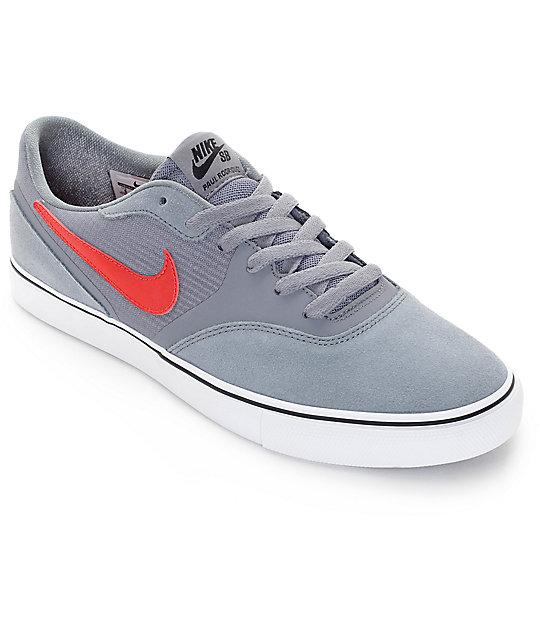 cheap for discount bab3f 27b19 ... skate shoe mens nike casual shoes lifestyle b9de3 e3cb5  real nike sb  paul rodriguez 9 clear grey dark obsidian summit white university red a6d16  ba79b