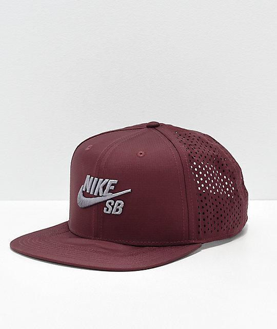 Nike SB Performance Burgundy   Grey Trucker Hat  0cbb9d3b51f