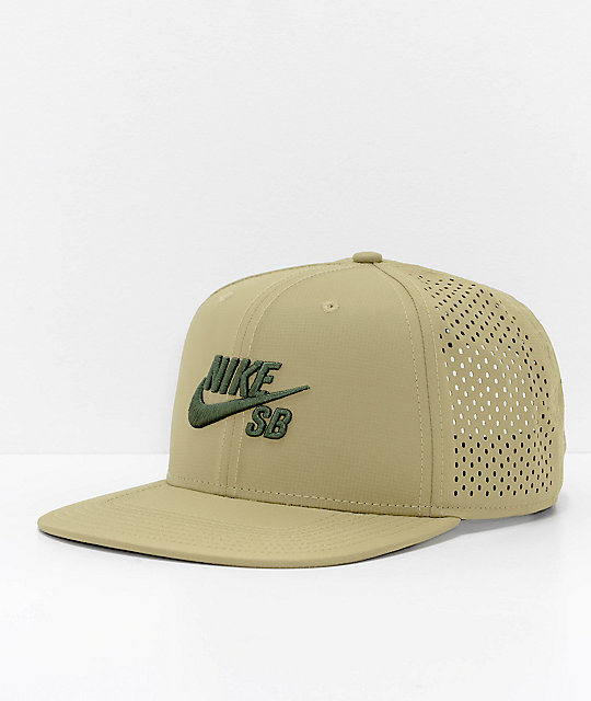 Nike SB Performance Olive Green Trucker Hat  bc2c8b32440