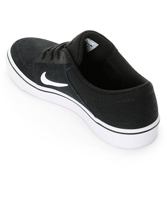 Nike SB Portmore Black & White Kids Skate Shoes