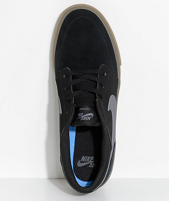Nike SB Portmore II Black & Gum Shoes