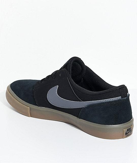 0cbe23417ddafe ... Nike SB Portmore II Black   Gum Shoes ...