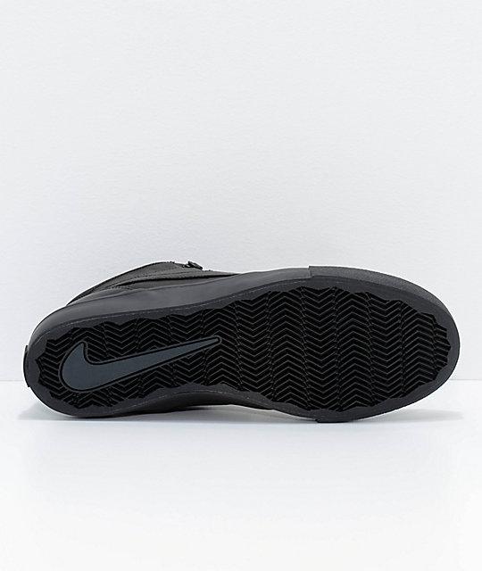 e12e547c1bb06f ... Nike SB Portmore II Mid Premium Bota Black Skate Shoes