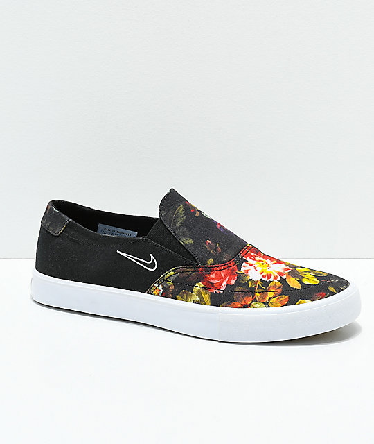 Nike SB Portmore II Solar Floral Slip-On Shoes  d43bdb674