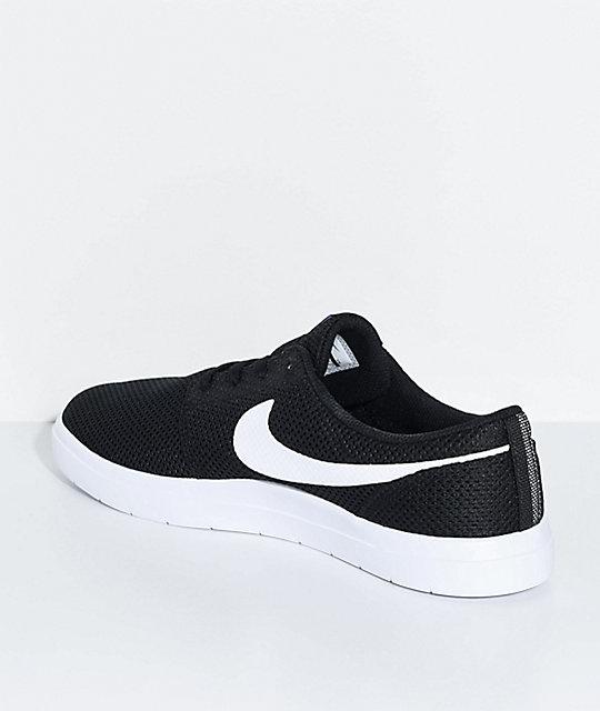 66e17fcb2558c5 ... Nike SB Portmore II Ultralight Black   White Skate Shoes ...