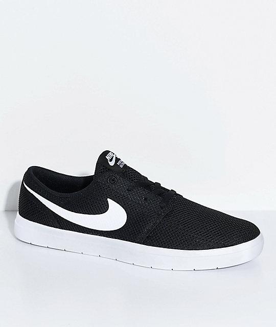 Nike SB Portmore II Ultralight Black   White Skate Shoes  ffc0d8d97