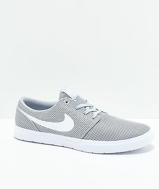 Nike SB Portmore II Ultralight Grey & White Shoes