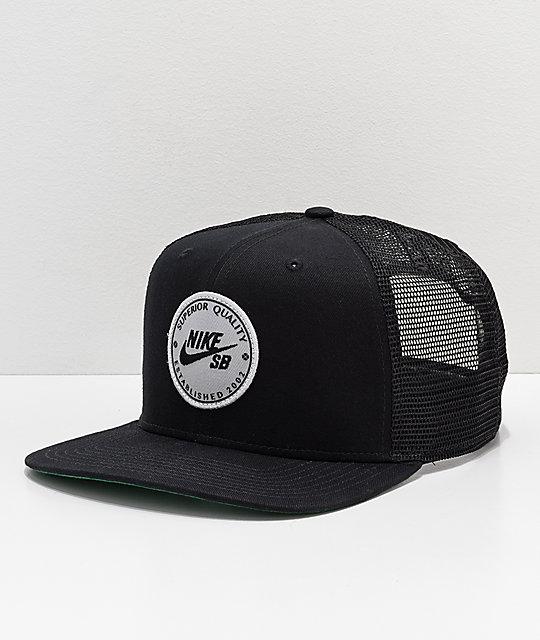 aceea74bbd8 Nike SB Procap Black Trucker Hat
