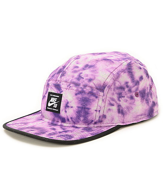 Nike SB Purple Tie Dye 5 Panel Hat  c49f0213a6f