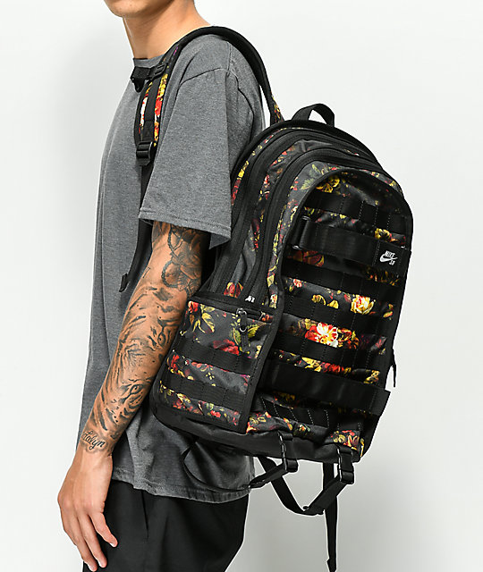 e90589013e1f ... Nike SB RPM Floral   Black Backpack ...