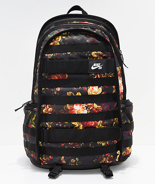 Nike SB RPM Floral   Black Backpack   Zumiez d1896a81d5