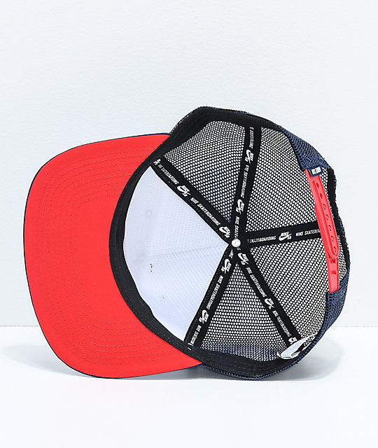 Nike SB Red, White & Blue Trucker Hat