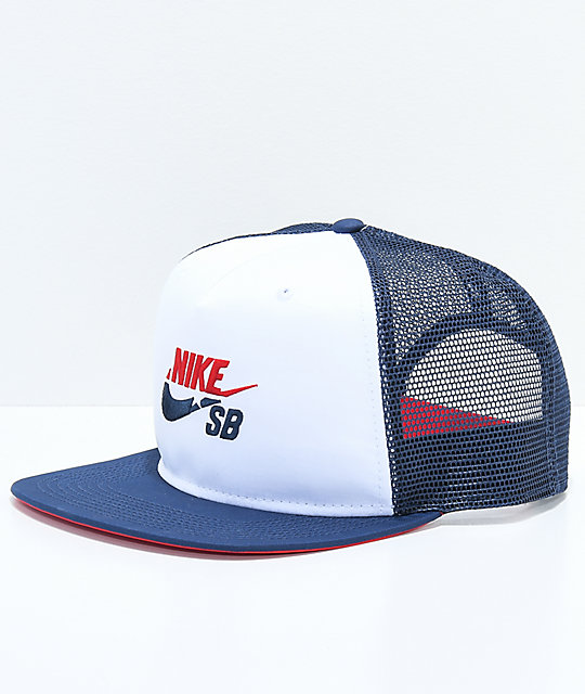 7011cd71a2606 ... inexpensive nike sb red white blue trucker hat ea83a 5efae