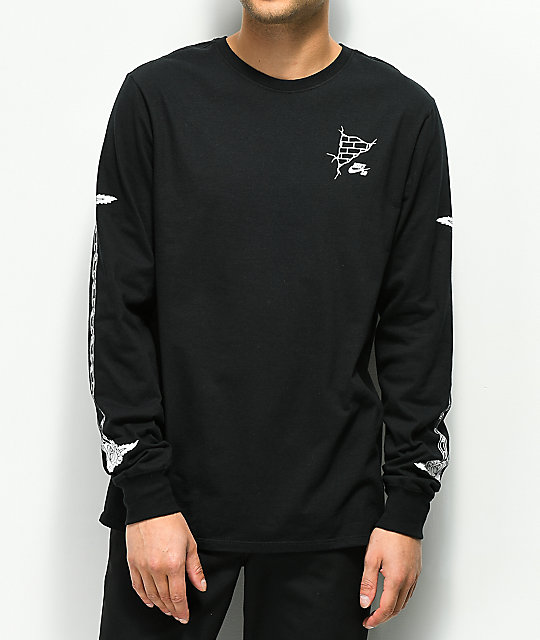 d75b2eecfd5 Nike SB Roses Black   White Long Sleeve T-Shirt