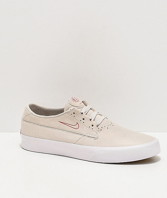 Nike SB Shane Summit White & University Red Skate Shoes