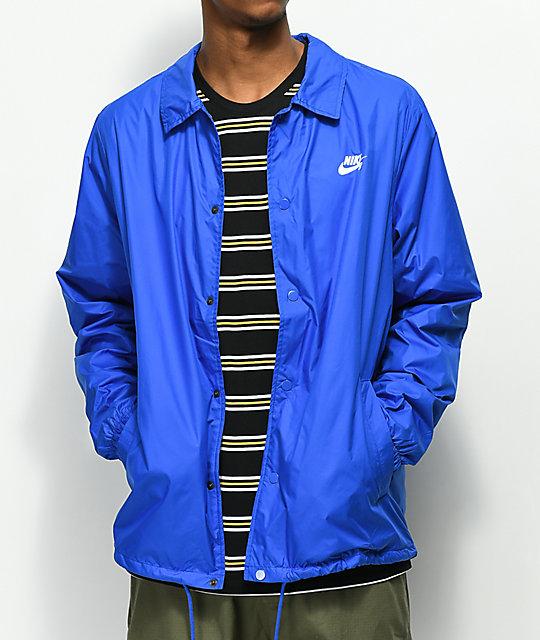713907b81188d Nike SB Shield Blue Coaches Jacket | Zumiez