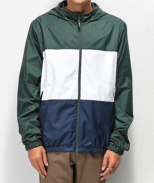 great deals entire collection elegant shoes Nike SB Shield Evergreen, White & Navy Windbreaker Jacket