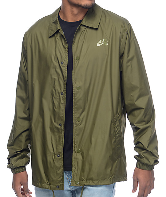 Nike SB Shield Green Coaches Jacket  ffa3f7333