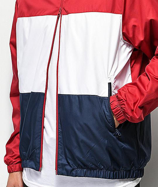 Y Zumiez Shield Azul Nike Chaqueta Roja Blanca Cortavientos Sb qF8wY