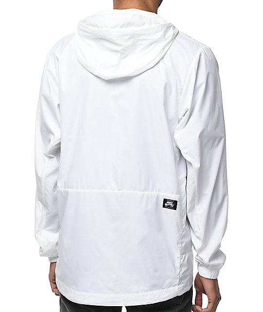 a879b82bef ... Nike SB Steele Packable White Windbreaker Jacket ...