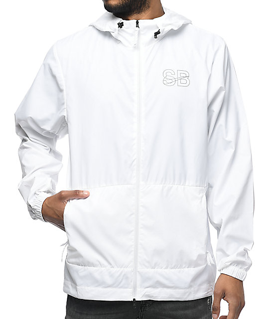 cheap the sale of shoes outlet for sale Nike SB Steele Packable White Windbreaker Jacket