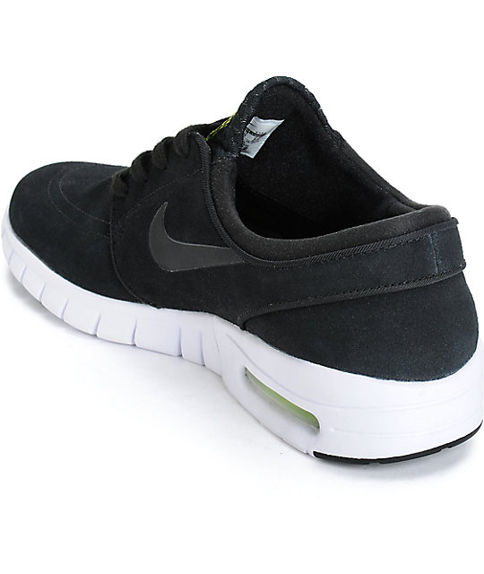 online retailer aa420 432fb ... Nike SB Stefan Janoski Air Max Black, Cyber,   White Shoes ...