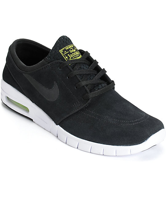 brand new b2eb1 461c3 Nike SB Stefan Janoski Air Max Black, Cyber,   White Shoes   Zumiez
