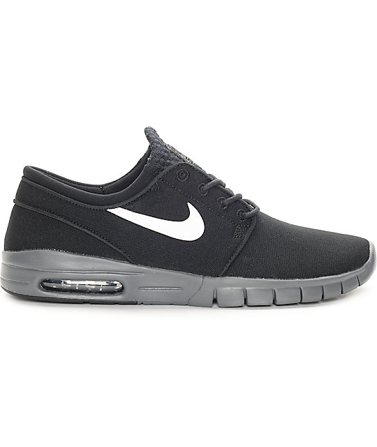 9139a704f32779 Nike Stefan Janoski Max Grey And Red Heels Nike Stefan Janoski Max ...