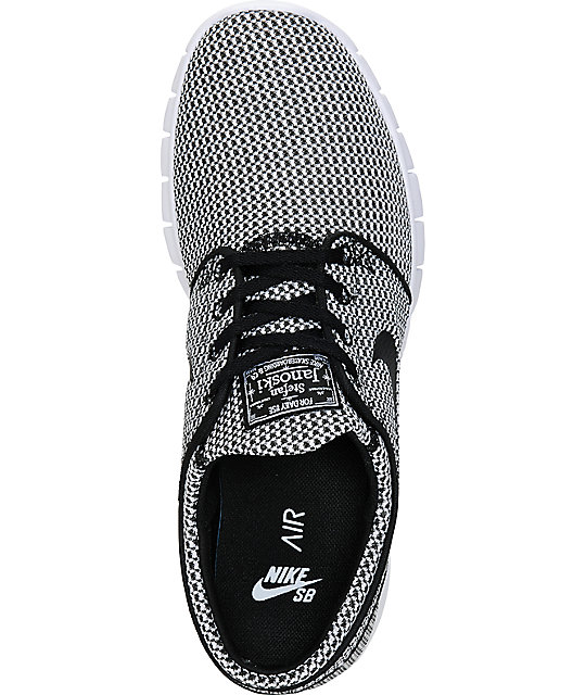 ... Nike SB Stefan Janoski Air Max Black & White Shoes ...