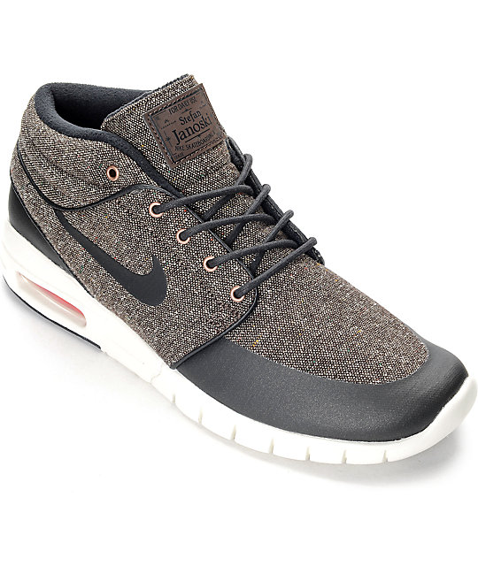 the latest 63f90 8026c Nike SB Stefan Janoski Air Max Mid Baroque & White Shoes | Zumiez