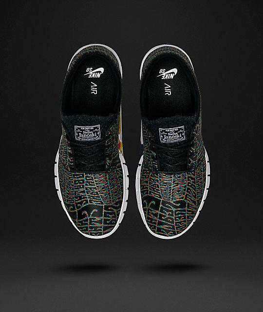 brand new dd722 a0505 ... Nike SB Stefan Janoski Air Max Premium Tripper Black, White    Multicolored Shoes