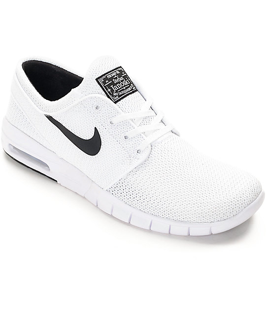Nike SB Stefan Janoski Air Max White & White Shoes ...