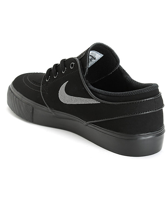Nike SB Stefan Janoski Black & Anthracite Kids Skate Shoes