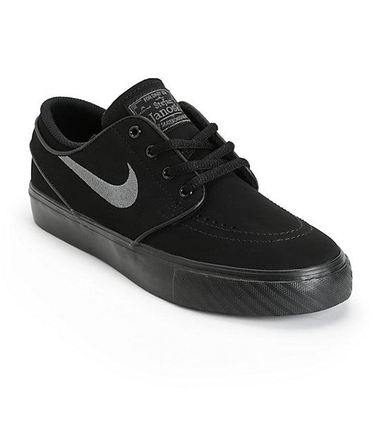 53bd0c96bf5 ... promo code for nike sb stefan janoski black anthracite kids skate shoes  e9a66 f2470