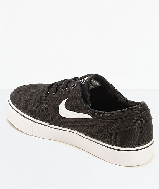 77b99ec3489 ... Nike SB Stefan Janoski Black Canvas Kids Skate Shoes ...