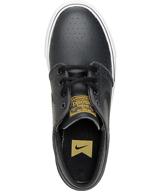 quality design d0200 786b4 Nike SB Stefan Janoski GS Anthracite, White & Black Kids Shoes | Zumiez