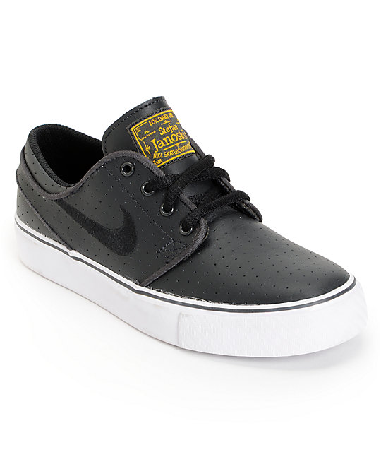 best service daaac 4c39b Nike SB Stefan Janoski GS Anthracite, White   Black Kids Shoes   Zumiez