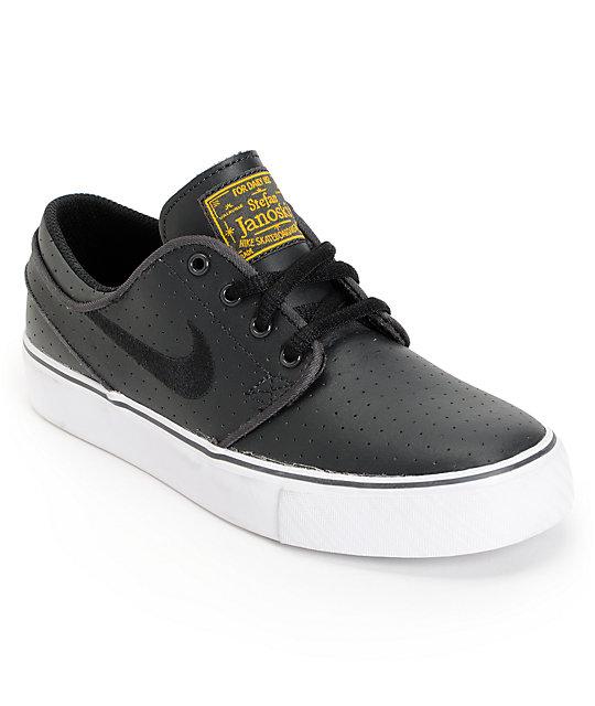 najnowszy Najnowsza szczegóły dla Nike SB Stefan Janoski GS Anthracite, White & Black Kids Shoes
