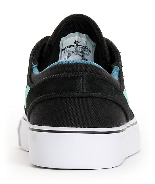 Nike SB Stefan Janoski GS Black, Crystal Mint, & Night Factor Boys Shoes