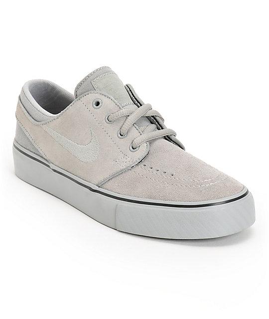 huge discount 4de7d 2c430 Nike SB Stefan Janoski GS Medium Grey Kids Shoes | Zumiez