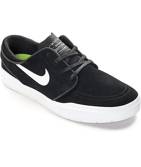 Nike SB Stefan Janoski Hyperfeel Black & White Skate Shoes ...